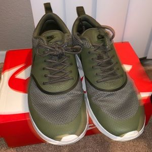Nike Shoes - Nike Air Max Thea in olive green